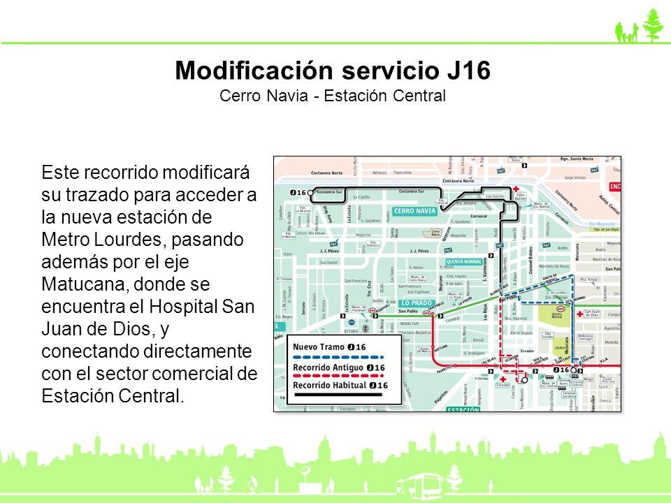 Este recorrido modificará su trazado para acceder a la nueva estación de Metro Lourdes, pasando además por el eje Matucana, donde se encuentra el Hosp