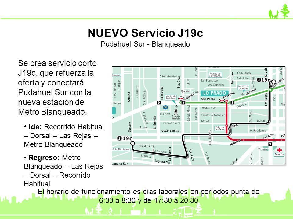 Se modifica trazado en el extremo poniente, utilizando calle El Tranque y accediendo al complejo industrial ENEA por Río Itata, permitiendo a los vecinos acceder directamente al Metro, y al centro de Santiago.