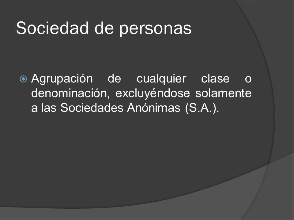 Sociedades de profesionales Es una asociación de personas que prestan servicios o asesorías profesionales por intermedio de sus socios o asociados, como por ejemplo, la sociedad de abogados, arquitectos, contadores, ingenieros, etc.
