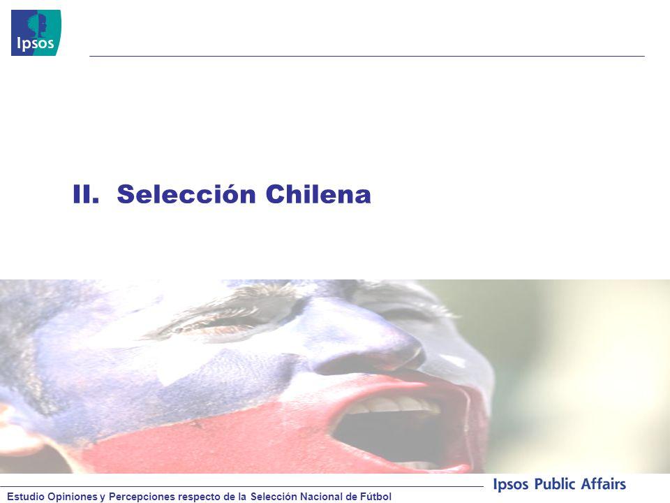 Estudio Opiniones y Percepciones respecto de la Selección Nacional de Fútbol © 2008 Ipsos II.Selección Chilena