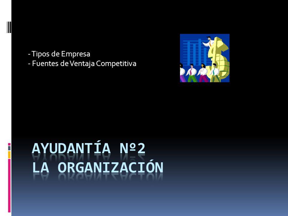 - Tipos de Empresa - Fuentes de Ventaja Competitiva