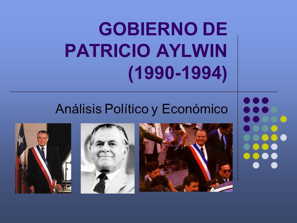 GOBIERNO DE PATRICIO AYLWIN (1990-1994) Análisis Político y Económico