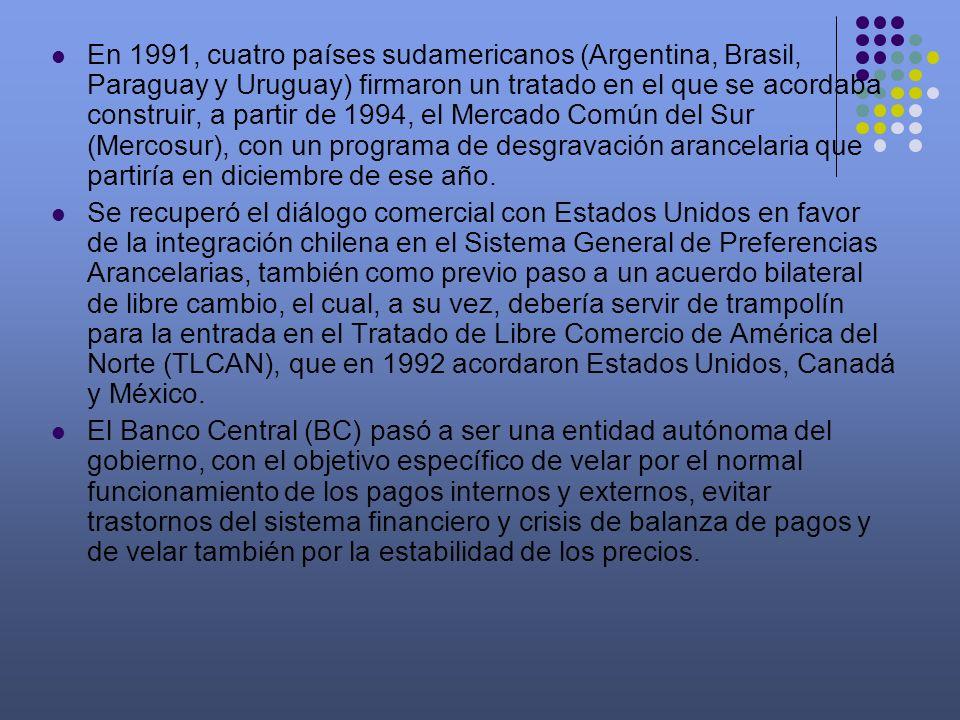En 1991, cuatro países sudamericanos (Argentina, Brasil, Paraguay y Uruguay) firmaron un tratado en el que se acordaba construir, a partir de 1994, el