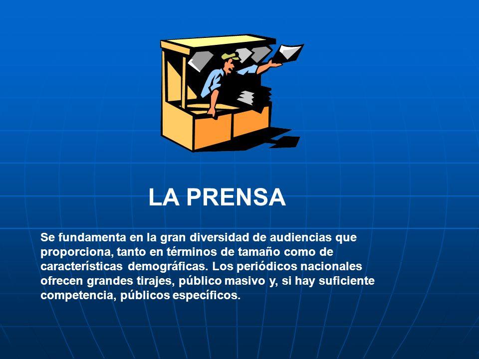 Ventajas de la Prensa Bajo costo por millar de lectores alcanzados.