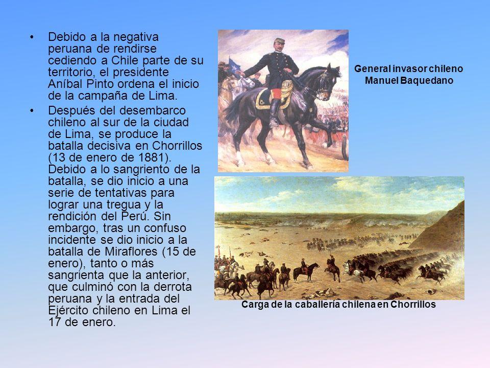 Debido a la negativa peruana de rendirse cediendo a Chile parte de su territorio, el presidente Aníbal Pinto ordena el inicio de la campaña de Lima. D