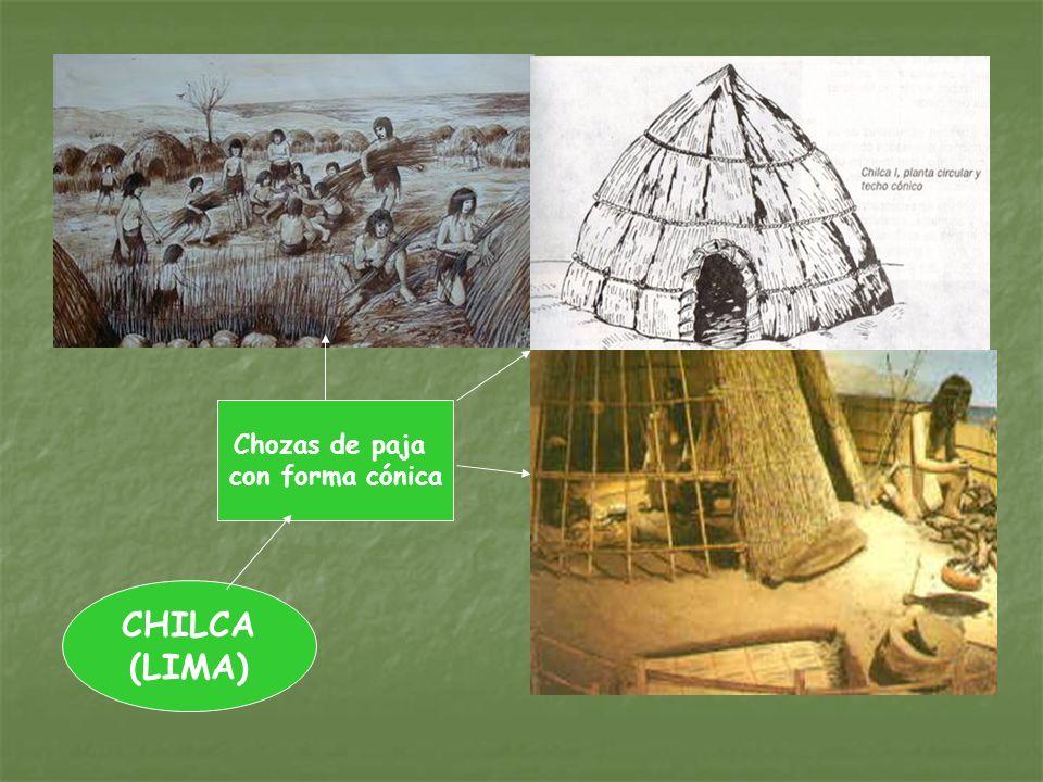 CHILCA (LIMA) Chozas de paja con forma cónica