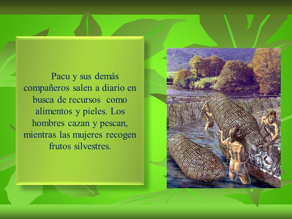 Pacu es un cazador del periodo lítico andino, fase inferior, y vive junto a una banda de 20 personas con las que comparte grandes aventuras.