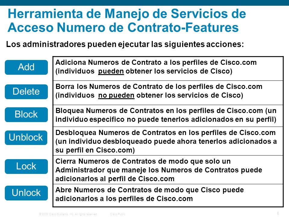 © 2009 Cisco Systems, Inc.