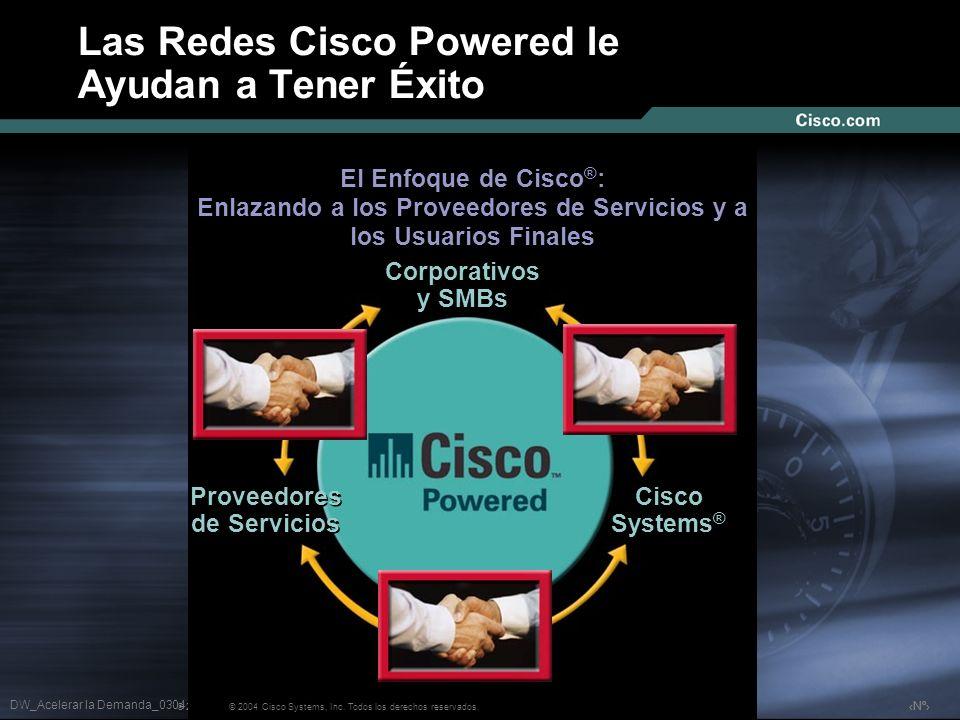 Nº © 2003 Cisco Systems, Inc. Todos los derechos reservados. Las Redes Cisco Powered le Ayudan a Tener Éxito El Enfoque de Cisco ® : Enlazando a los P
