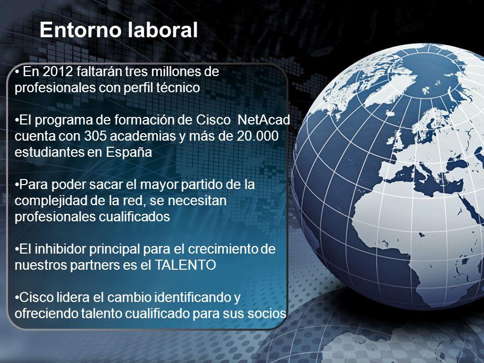 En 2012 faltarán tres millones de profesionales con perfil técnico El programa de formación de Cisco NetAcad cuenta con 305 academias y más de 20.000