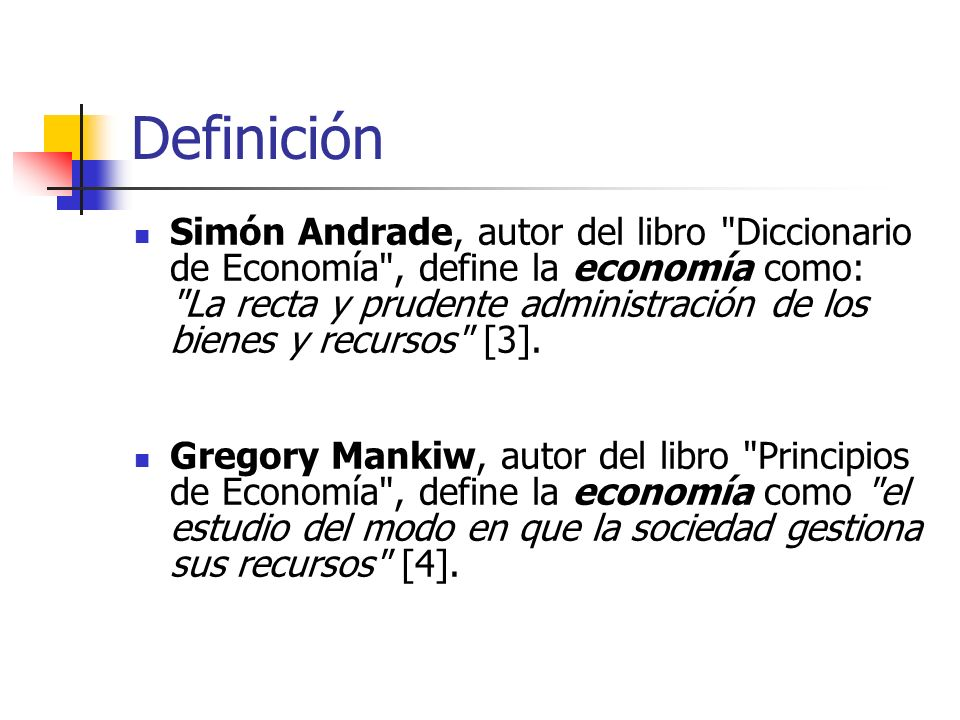Definición Simón Andrade, autor del libro