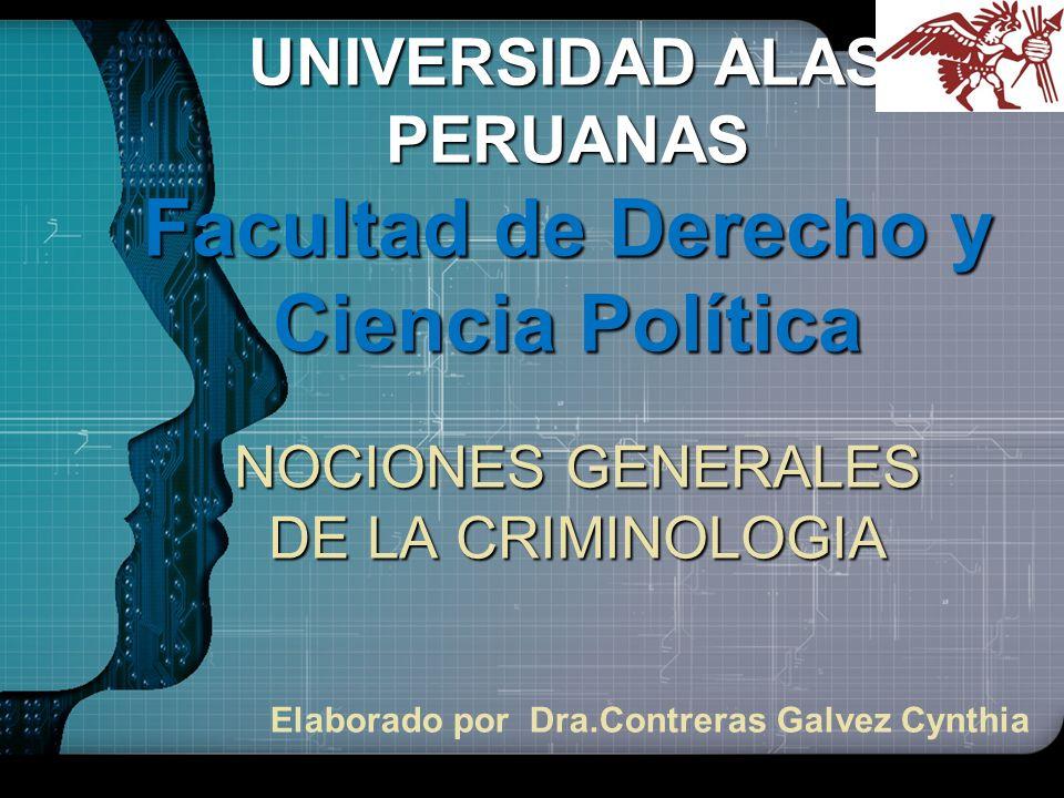31 Finalidad de la Criminología La Criminología debe contribuir a buscar la mejor solución de los conflictos y problemas sociales.