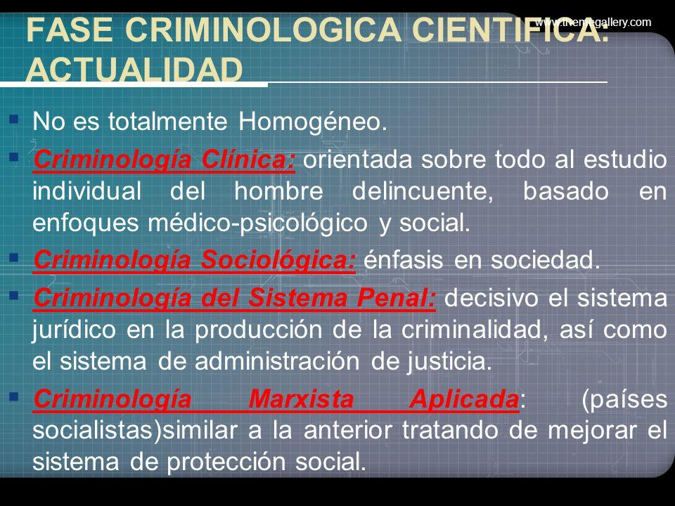 VIII Congreso Internacional de Criminología (Portugal 1978) Investigaciones en curso: –Criminogénesis –Administración de justicia, –Tratamiento de los
