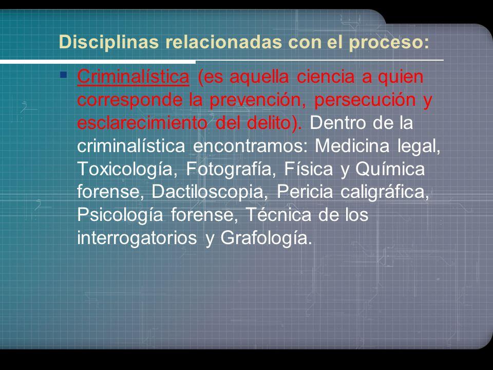 Biología criminal (Antropología criminal - estudio de los caracteres físicos y mentales particulares a los autores de delitos y de crímenes - y Psicol