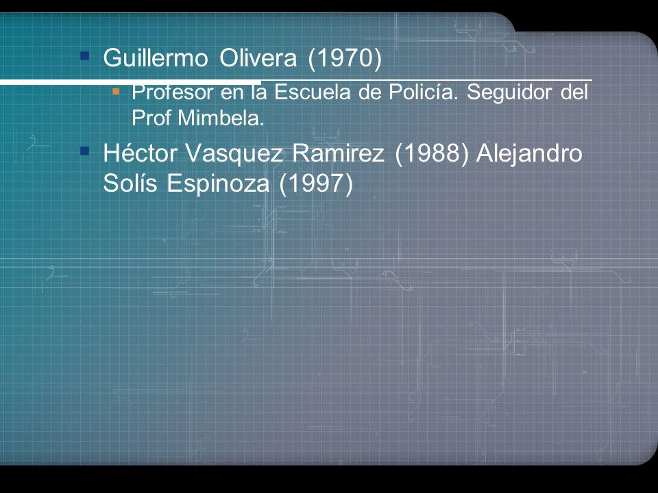 Oscar Miro Quesada (1918) Inauguración de la cátedra de Criminología en el Perú en la UNMSM-F.DDy CC.PP Carlos Bambarén (Méd.Psiq.1928) Catedrático UN