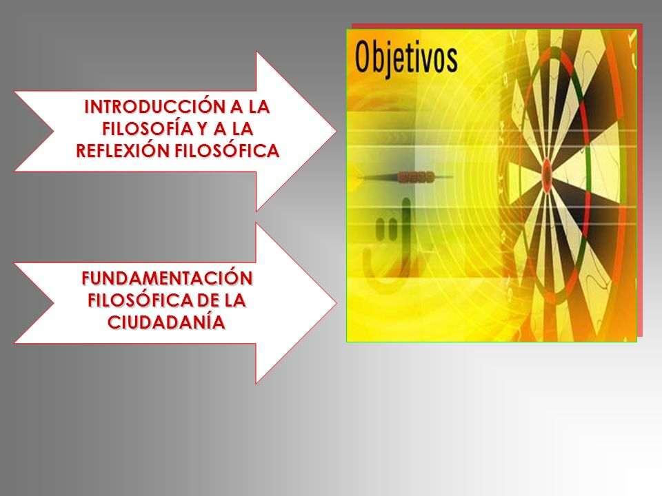 INTRODUCCIÓN A LA FILOSOFÍA Y A LA REFLEXIÓN FILOSÓFICA FUNDAMENTACIÓN FILOSÓFICA DE LA CIUDADANÍA