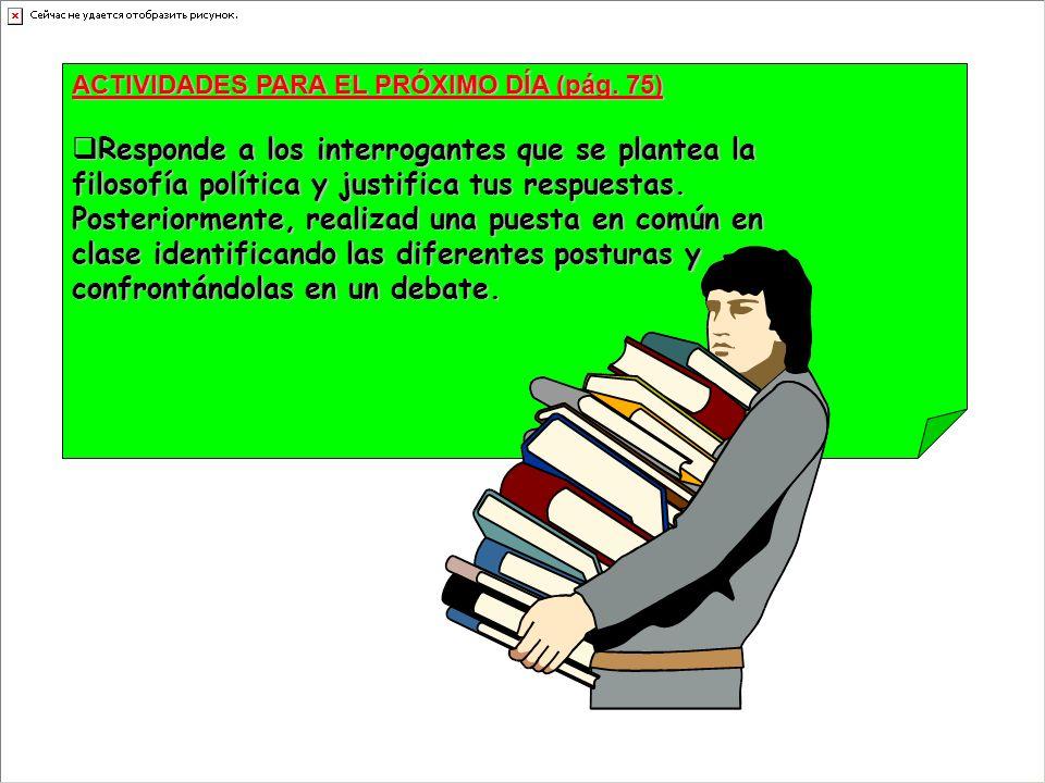 ACTIVIDADES PARA EL PRÓXIMO DÍA (pág.