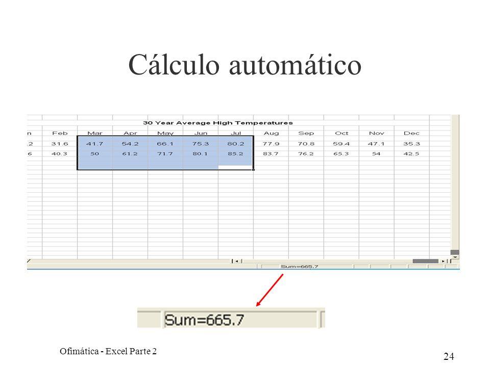 24 Cálculo automático Ofimática - Excel Parte 2