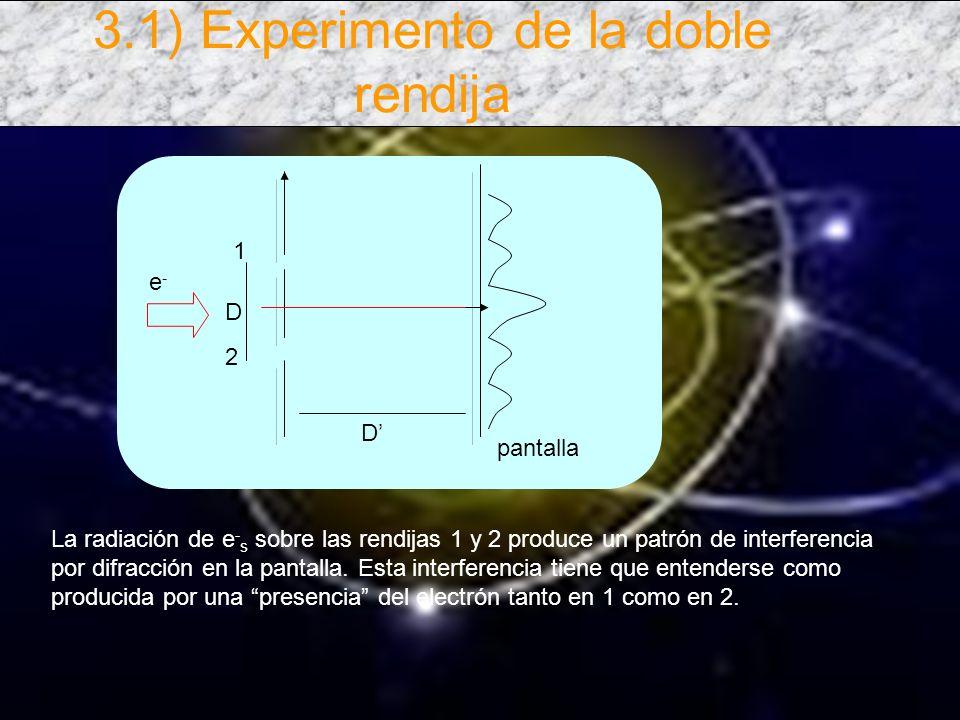Si el experimento se realiza anulando una de las rendijas se obtendrían patrones típicos para c/u de ellos.