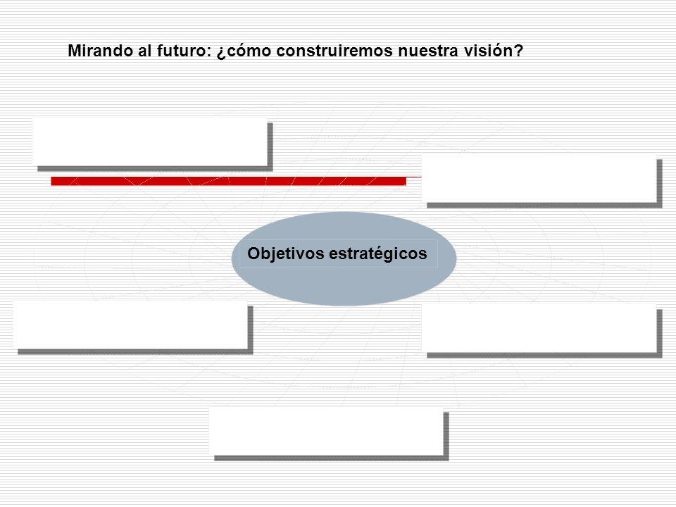 Mirando al futuro: ¿cómo construiremos nuestra visión? Objetivos estratégicos