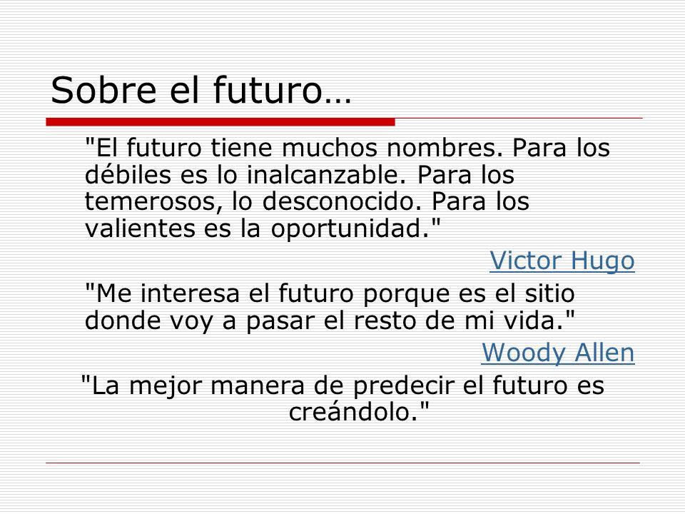 Sobre el futuro…
