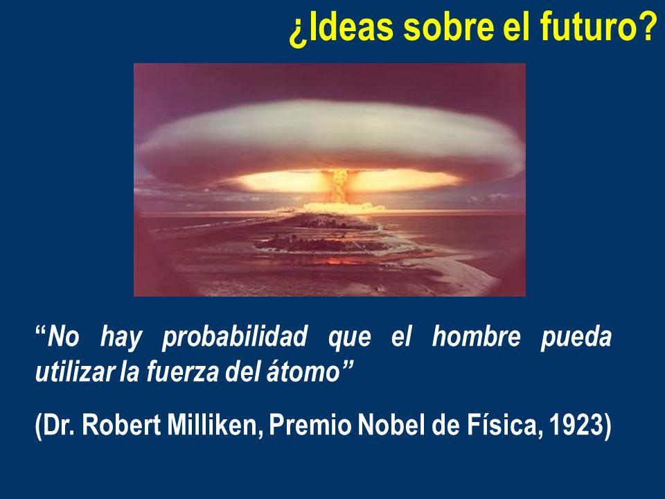 ¿Ideas sobre el futuro? No hay probabilidad que el hombre pueda utilizar la fuerza del átomo (Dr. Robert Milliken, Premio Nobel de Física, 1923)