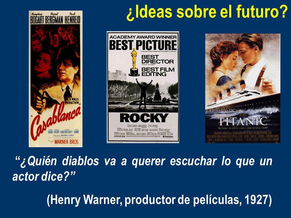 ¿Ideas sobre el futuro? ¿Quién diablos va a querer escuchar lo que un actor dice? (Henry Warner, productor de películas, 1927)