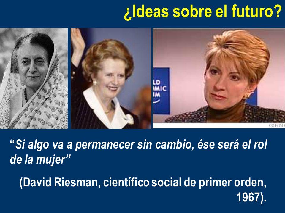 ¿Ideas sobre el futuro? Si algo va a permanecer sin cambio, ése será el rol de la mujer (David Riesman, científico social de primer orden, 1967).