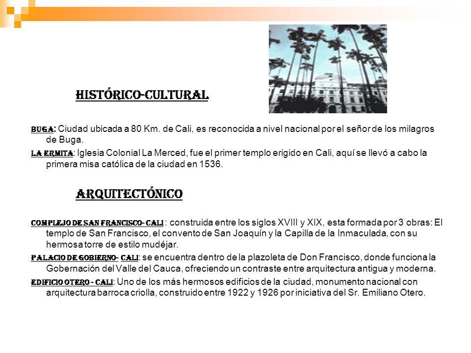 HISTÓRICO-CULTURAL BUGA : Ciudad ubicada a 80 Km.