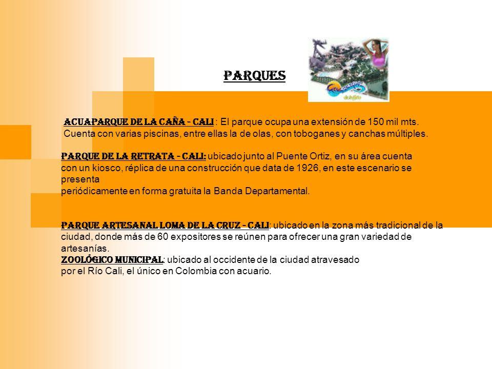PARQUES ACUAPARQUE DE LA CAÑA - Cali : El parque ocupa una extensión de 150 mil mts.