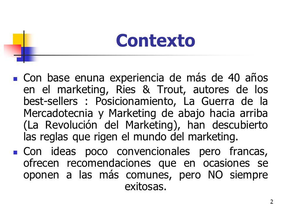 3 Consejo Las 22 Leyes inmutables del marketing … viólelas a su propio riesgo !!