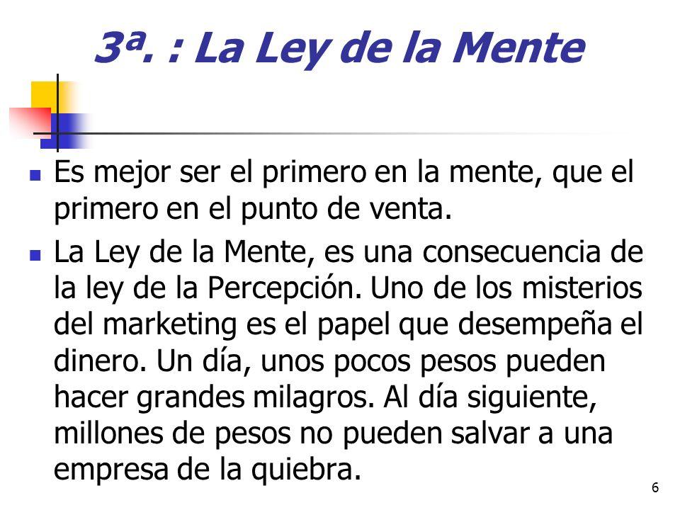 13ª.: La ley del Sacrificio a) Línea de Productos : Dónde está escrito que cuanto más tenga para vender, venderá más .