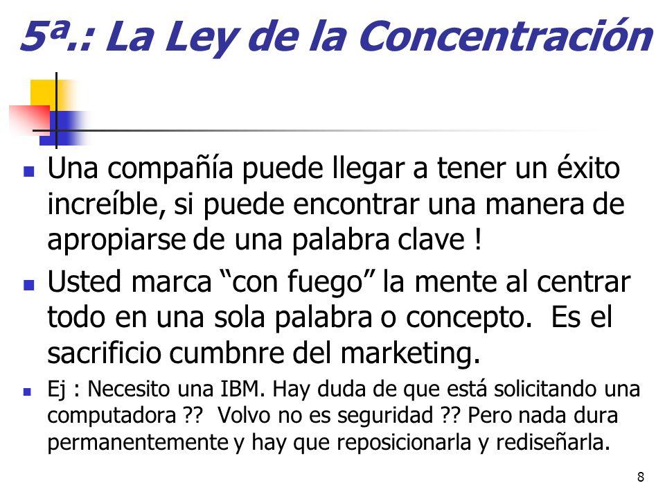 Las 22 Leyes inmutables del Marketing Adaptación : Richard Bliss Restrepo / 2009 29