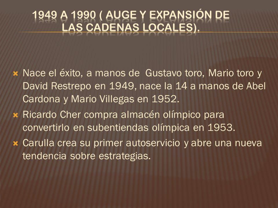 Nace el éxito, a manos de Gustavo toro, Mario toro y David Restrepo en 1949, nace la 14 a manos de Abel Cardona y Mario Villegas en 1952.
