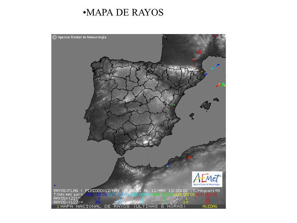 MAPA DE RAYOS