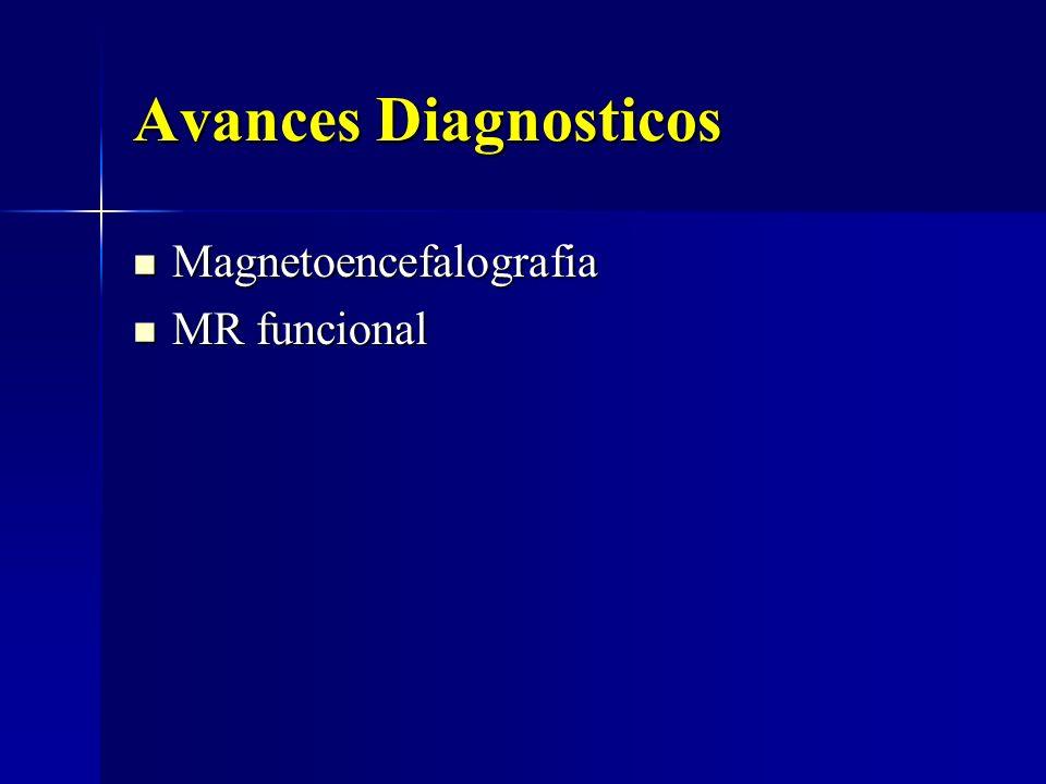 Avances Diagnosticos Magnetoencefalografia Magnetoencefalografia MR funcional MR funcional