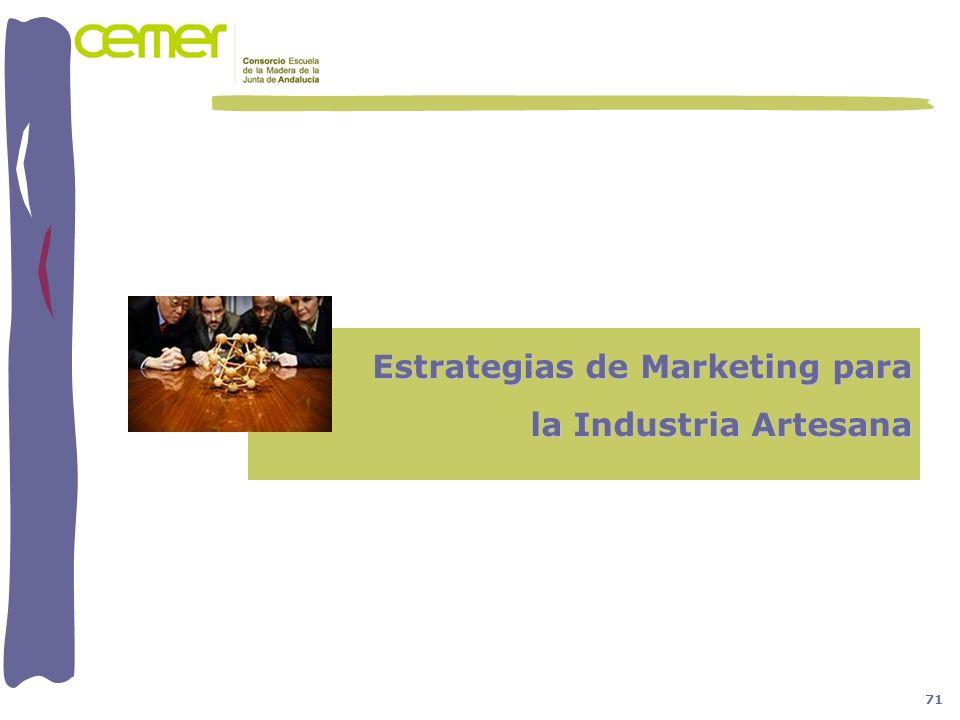 Estrategias de Marketing para la Industria Artesana 71
