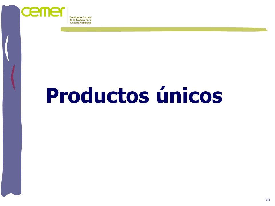 Productos únicos 78