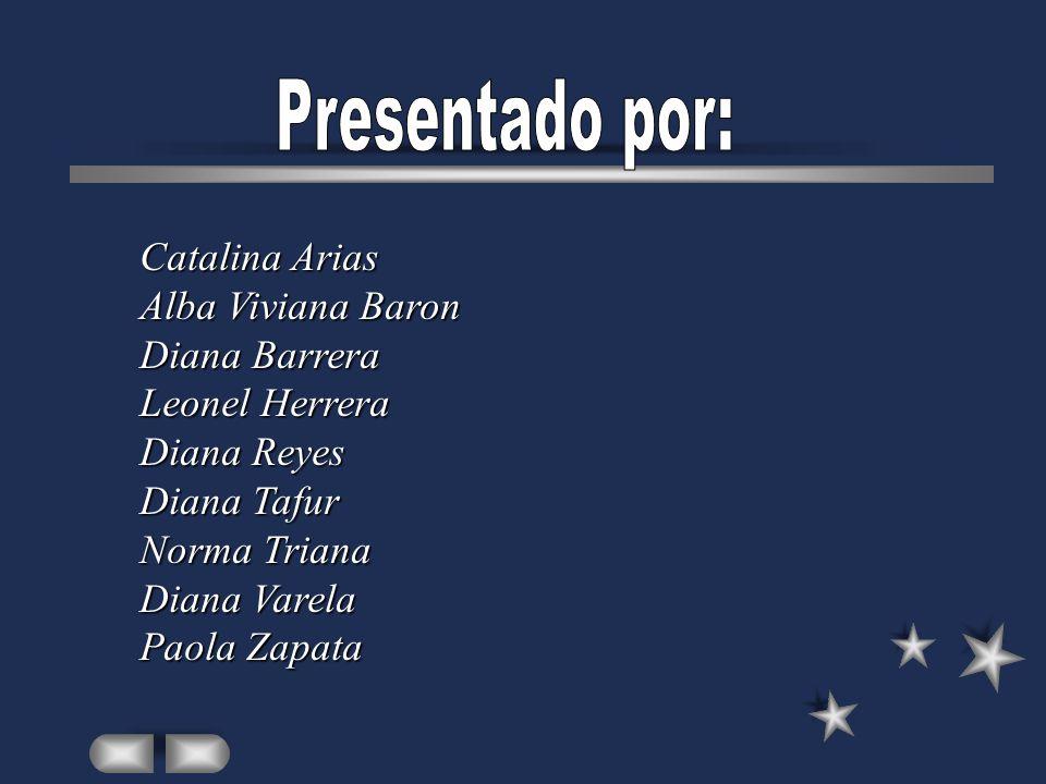 Catalina Arias Alba Viviana Baron Diana Barrera Leonel Herrera Diana Reyes Diana Tafur Norma Triana Diana Varela Paola Zapata