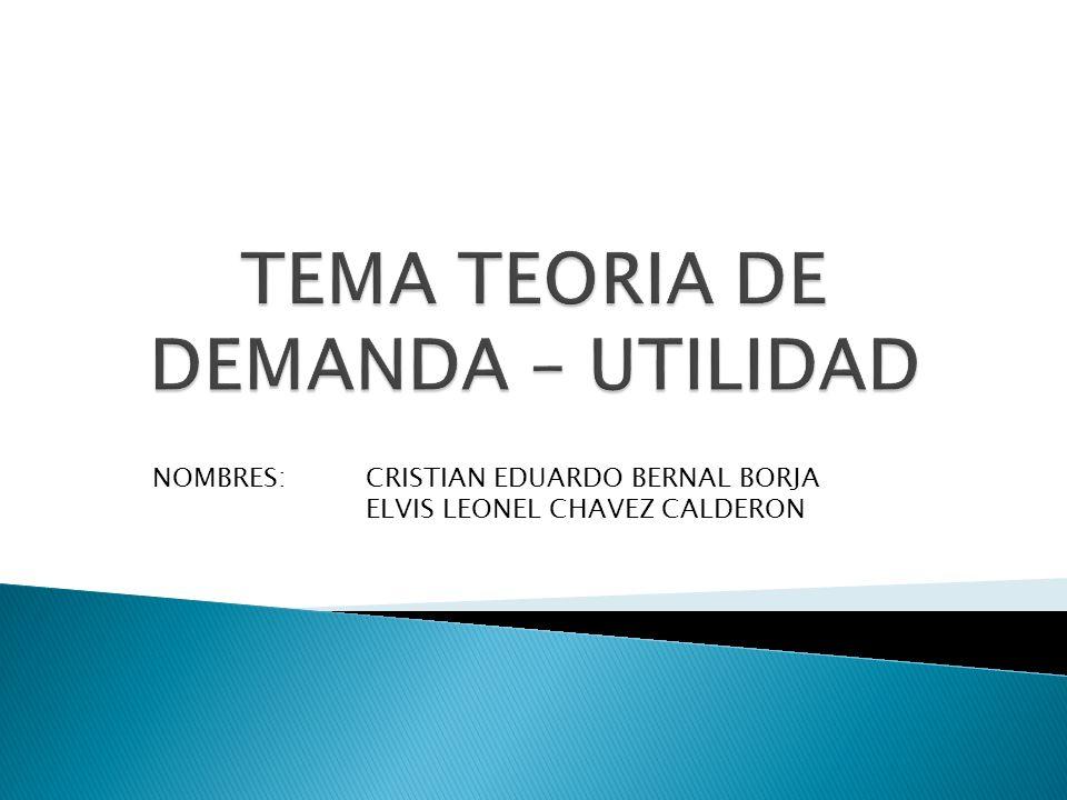 NOMBRES: CRISTIAN EDUARDO BERNAL BORJA ELVIS LEONEL CHAVEZ CALDERON