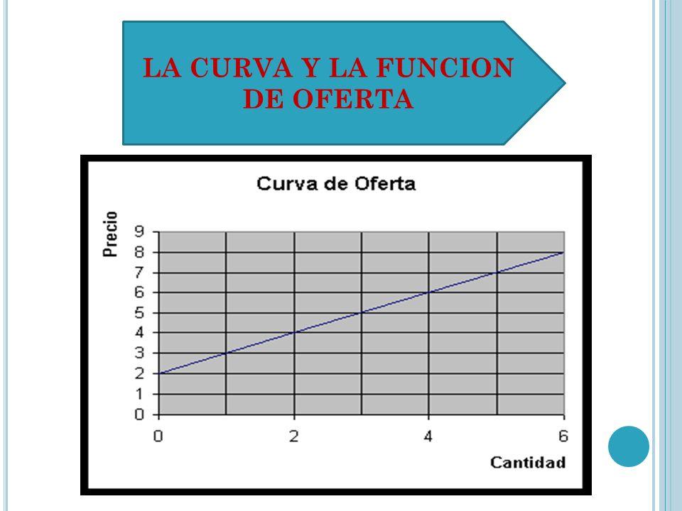 LA CURVA Y LA FUNCION DE OFERTA