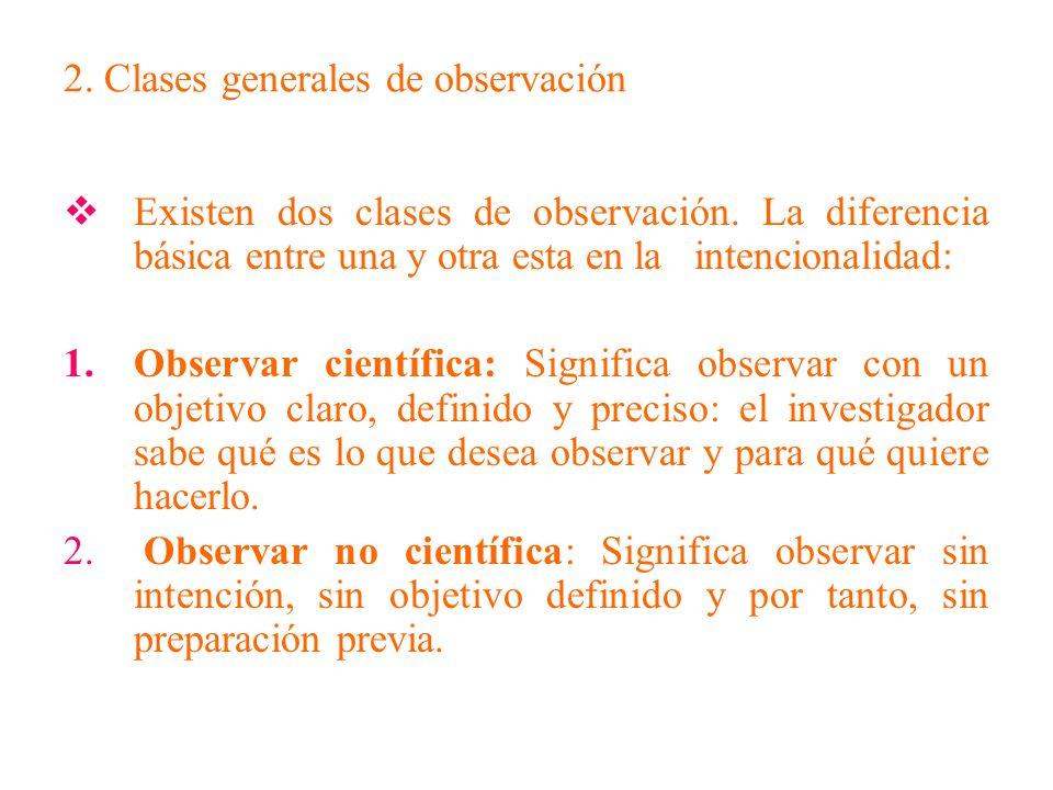 3.Clases específicas de observaciones Según nivel de compromiso: participante y no participante.