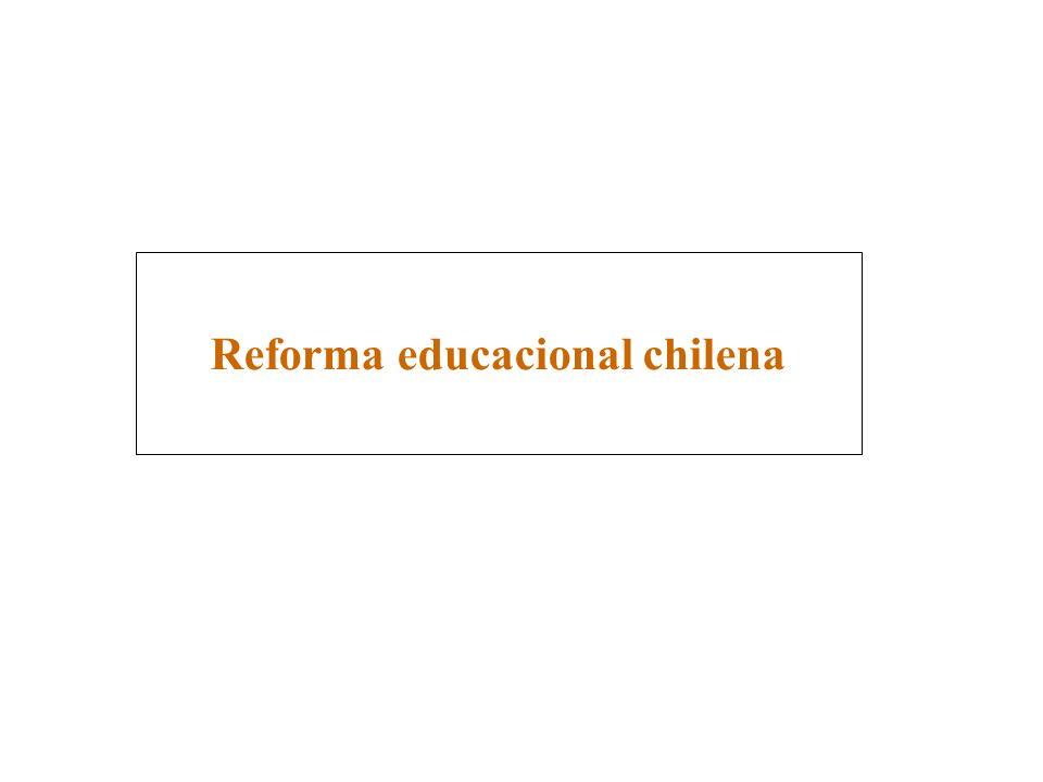 La Reforma Educacional es el proyecto de modernización que presenta como principal meta cambiar cualitativamente el carácter de la Educación Chilena.