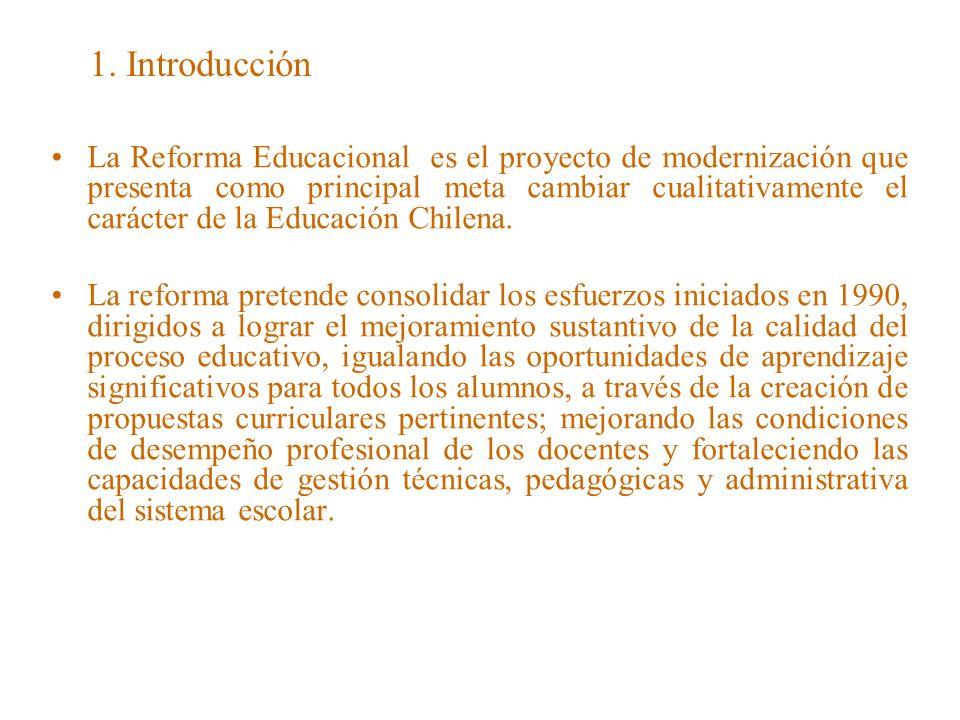 2.Objetivos de la reforma educacional.