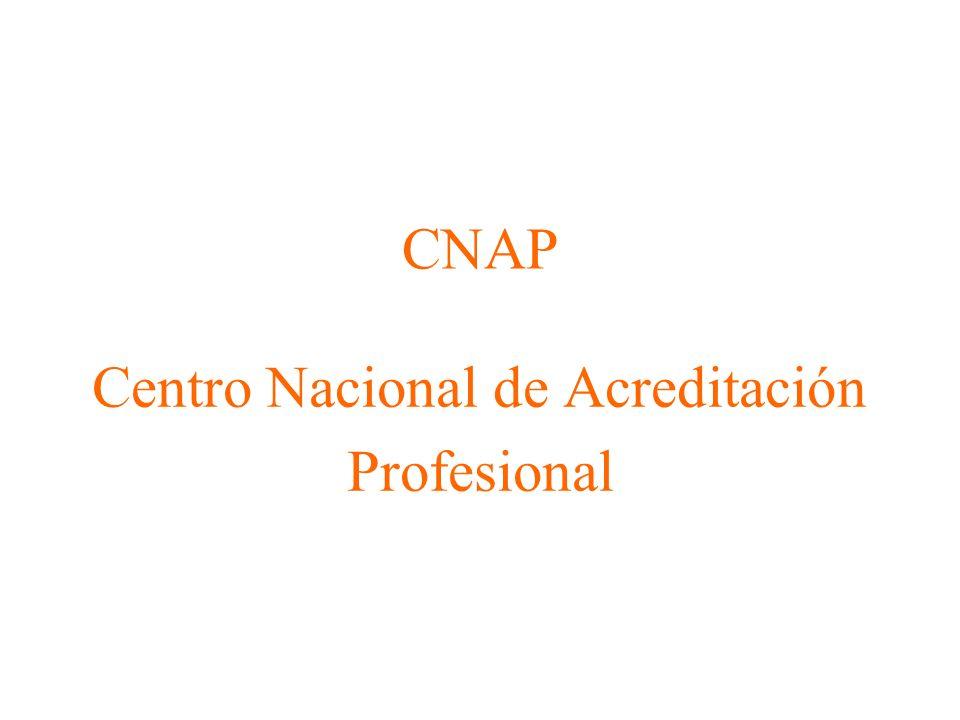 CNAP Centro Nacional de Acreditación Profesional