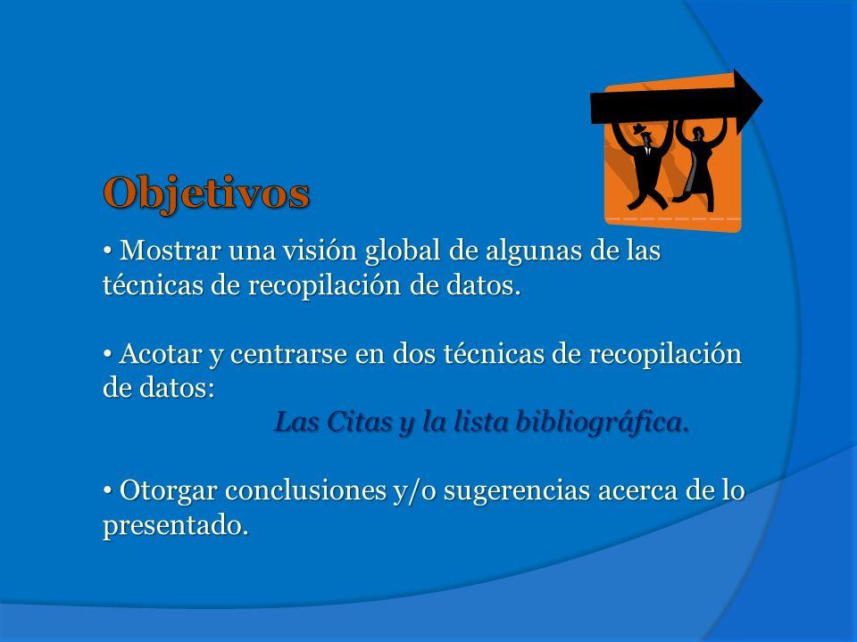 CitasCitas ReferenciasReferencias Listado bibliográfico FichasFichas