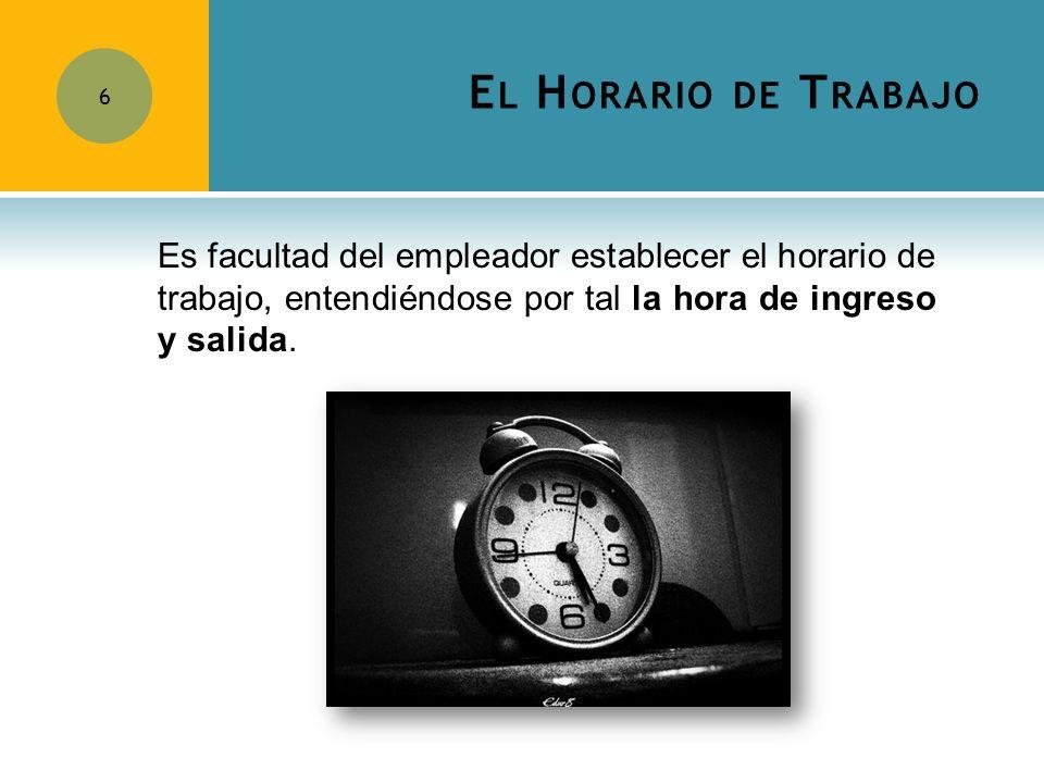 E L R EFRIGERIO 7 El tiempo dedicado al refrigerio no podrá ser inferior a 45 minutos.