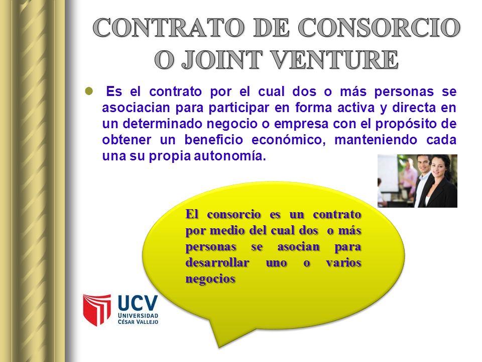 Es el contrato por el cual dos o más personas se asociacian para participar en forma activa y directa en un determinado negocio o empresa con el propó