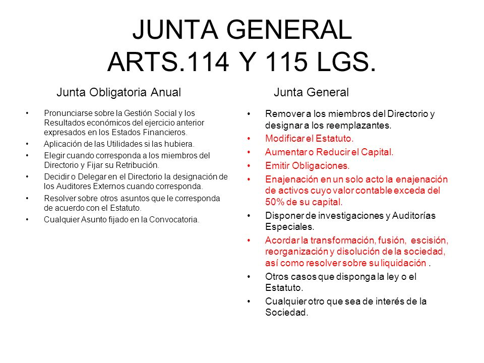 JUNTA GENERAL ARTS.114 Y 115 LGS. Pronunciarse sobre la Gestión Social y los Resultados económicos del ejercicio anterior expresados en los Estados Fi