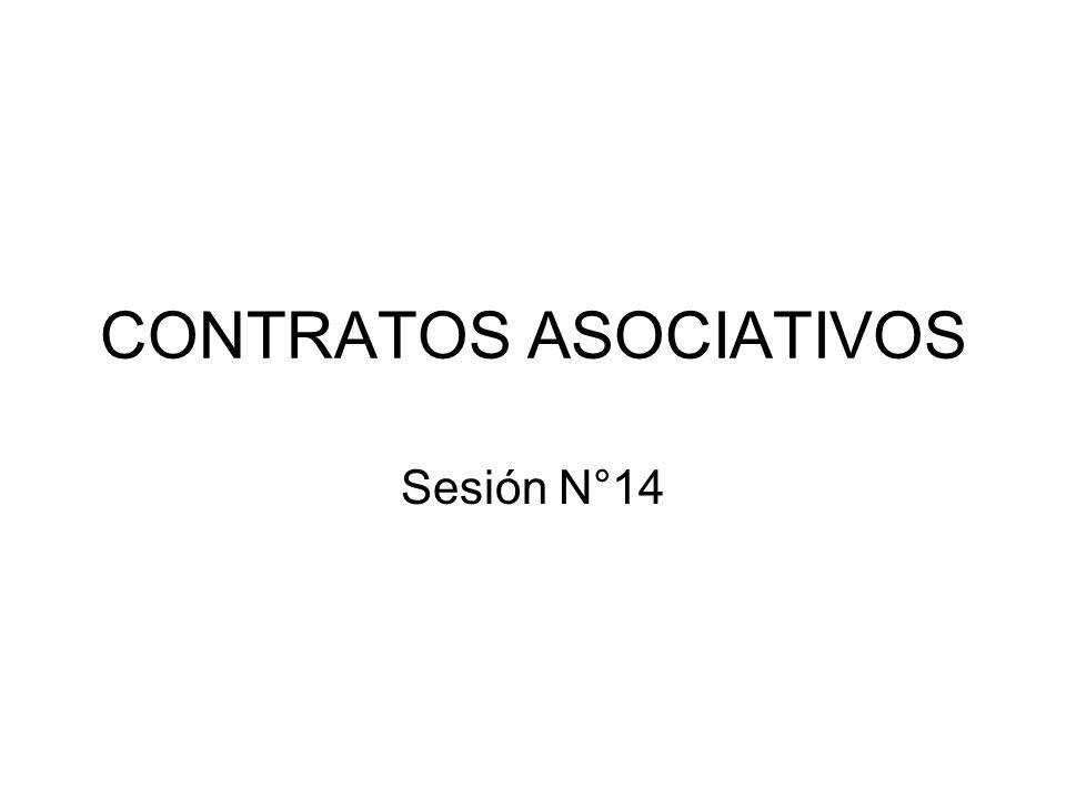 CONTRATOS ASOCIATIVOS Sesión N°14